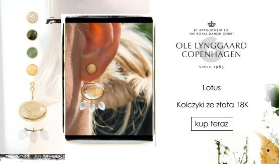 Ole Lynggaard Copenhagen Lotus kolczyki SS19