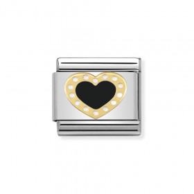 Composable Gold czarne serce 030283/02